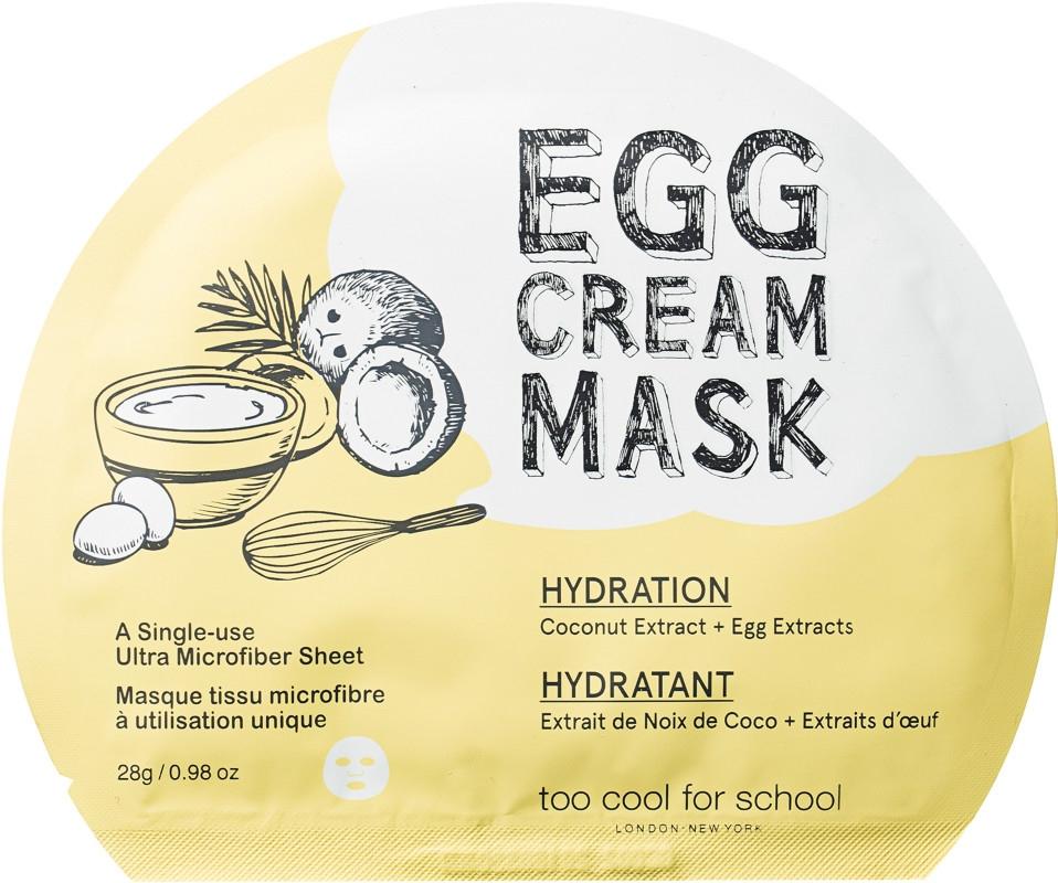 Маска тканевая для лица с эффектом глубокого увлажнения и яичным экстрактом Too Cool For School Egg Cream Mask Hydration 28g 2 - Фото 2