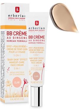 BB-крем с женьшенем светлый для лица Erborian Eau Ginseng BB Cream Clair 5in1 SPF20  2 - Фото 2
