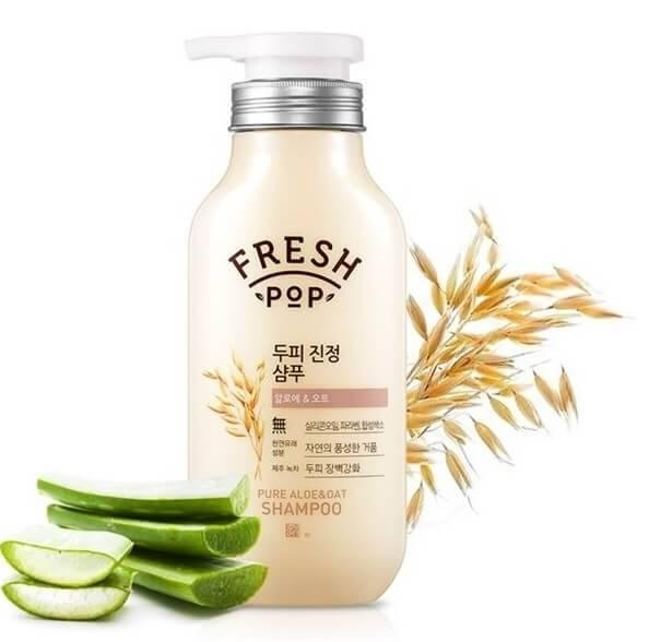 Шампунь С Экстрактом Алоэ И Овса Fresh Pop Pure Aloe & Oat Shampoo Укрепляющий 500ml