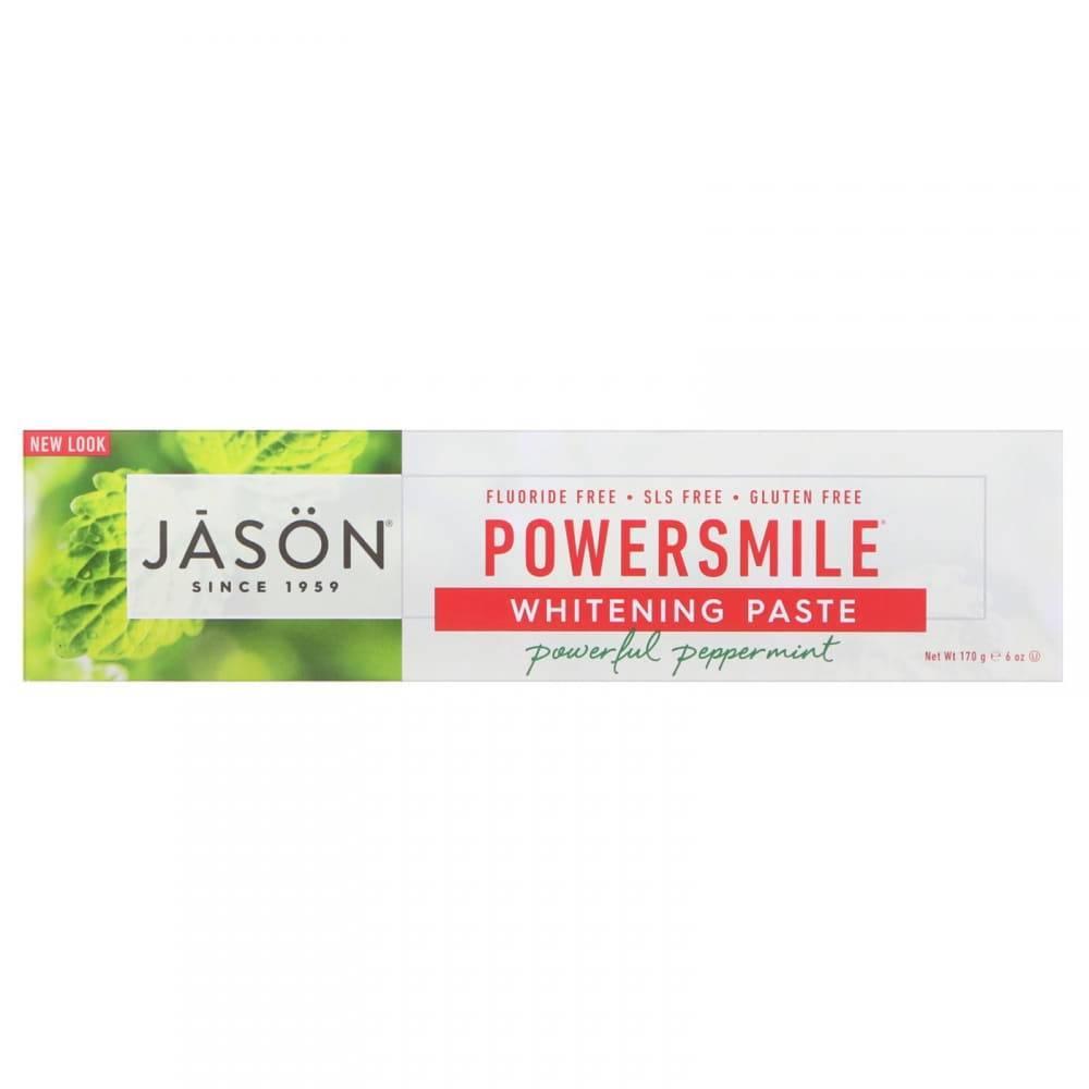 Органическая Отбеливающая Зубная Паста С Перечной Мятой Jason Natural PowerSmile 170мл 3 - Фото 3