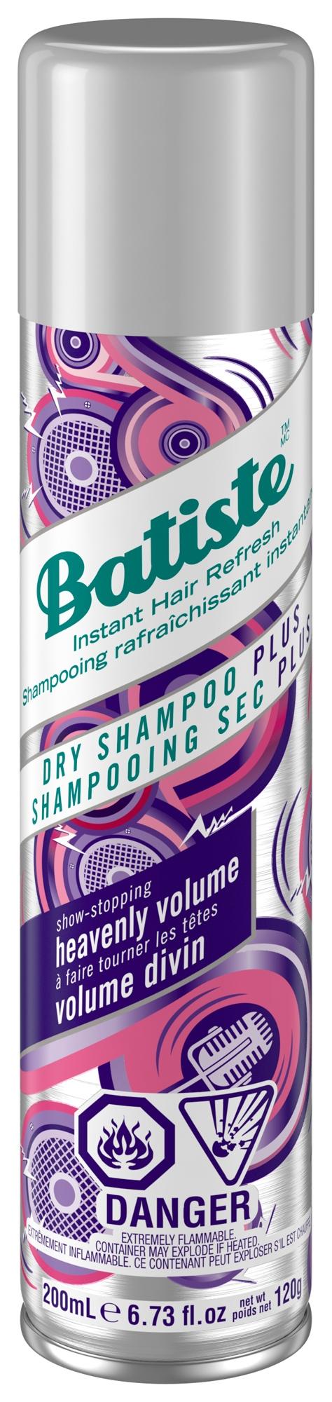 Шампунь очищающий сухой бессульфатный для волос Batiste Dry Shampoo Heavenly Volume 200 ml 0 - Фото 1