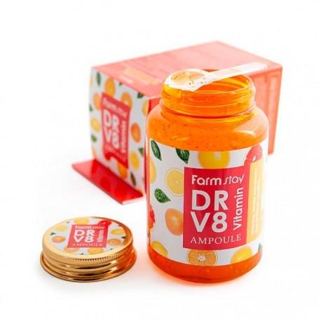Питательная сыворотка с витаминным комплексом FarmStay DR-V8 Vitamin Ampoule 250ml