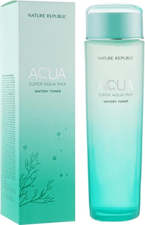 Увлажняющий тонер с очищенной морской водой Nature Republic Super Aqua Max Watery Toner 150ml 0 - Фото 1