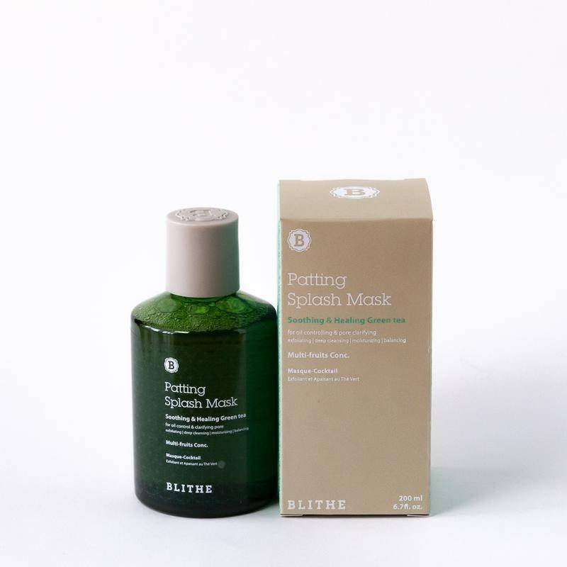 Сплэш-Маска Успокаивающая С Экстрактом Зеленого Чая Blithe Patting Splash Mask Soothing & Healing Green Tea