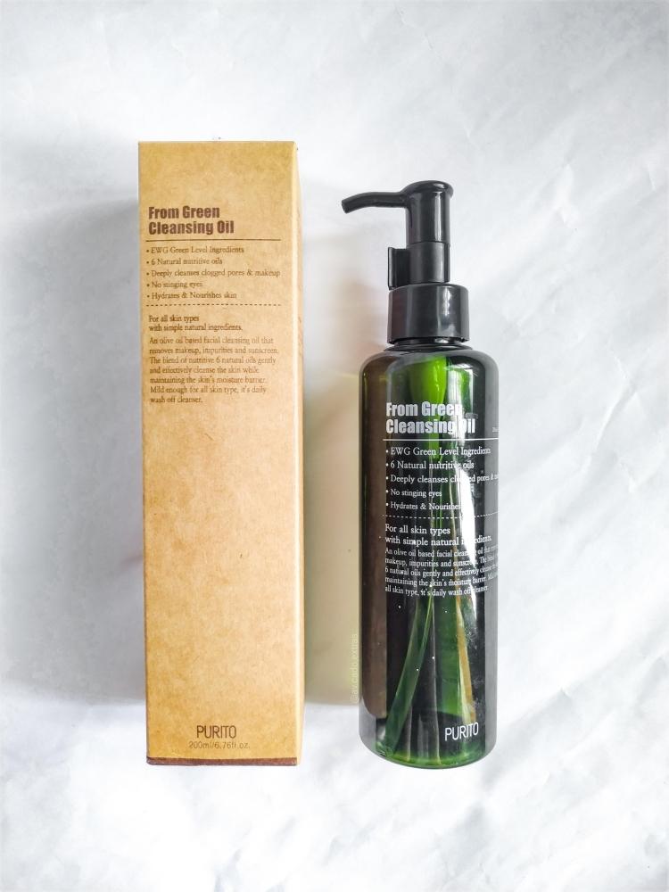 Гидрофильное масло органическое с токоферолом Purito From Green Cleansing Oil