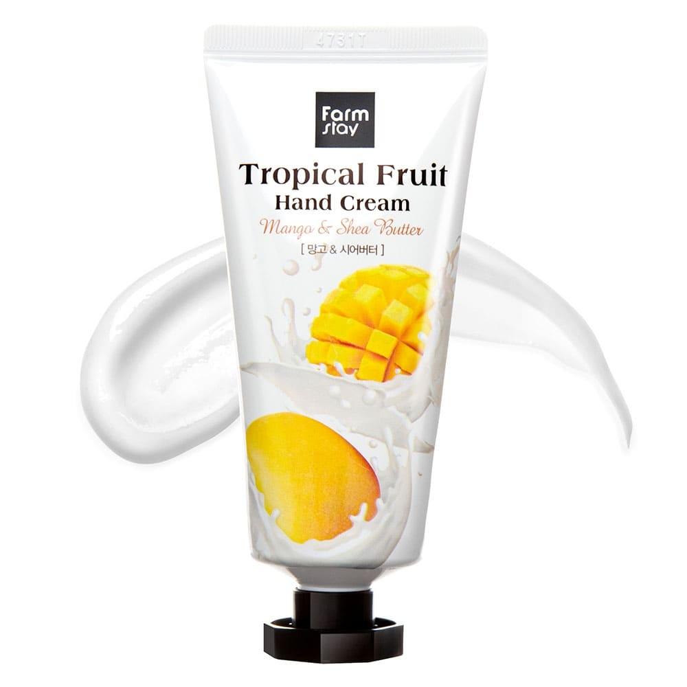 Крем для рук увлажняющий с экстрактом манго и маслом ши FarmStay Tropical Fruit Hand Cream Mango & Shea Butter 50ml 2 - Фото 2