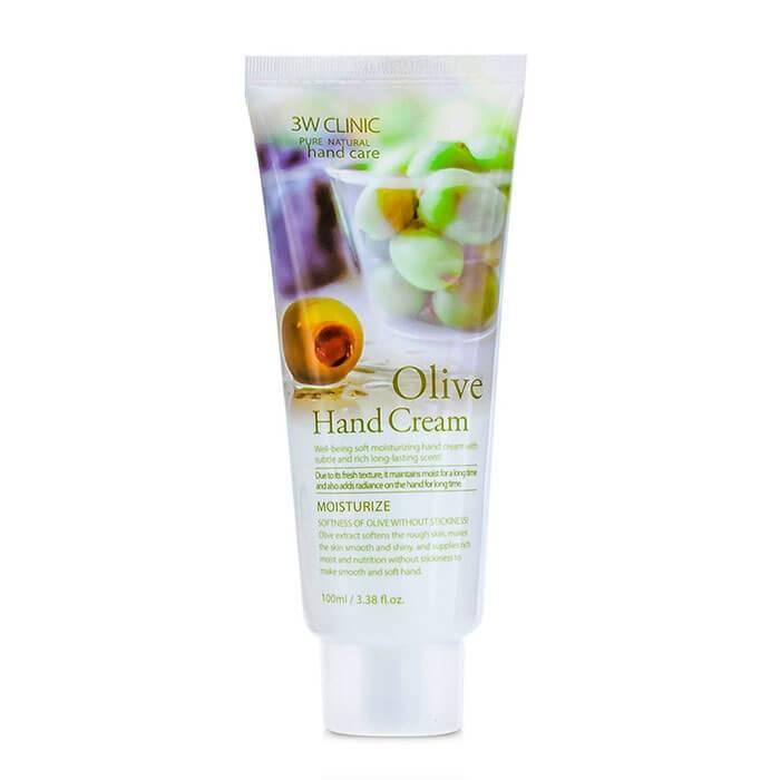 Крем Для Рук Увлажняющий  С Экстрактом Оливы 3W CLINIC Moisturizing Hand Cream Olive
