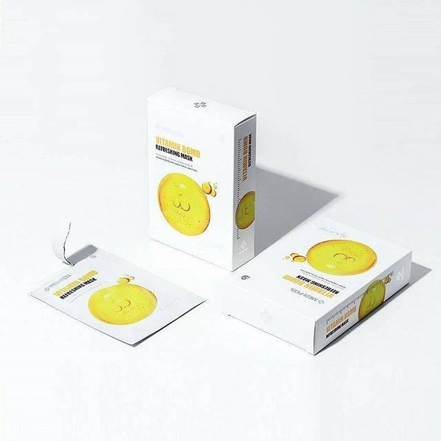 Маска Тканевая Для Лица Витаминная С Ниацинамидом MEDI-PEEL Vitamin Bomb Refreshing Mask 25ml 0 - Фото 1