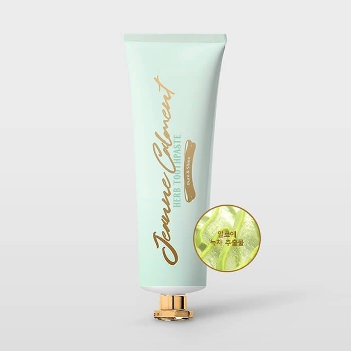 Зубная паста отбеливающая Evas Jeanne Calment Herb Toothpaste Pure & Shine 80g 2 - Фото 2