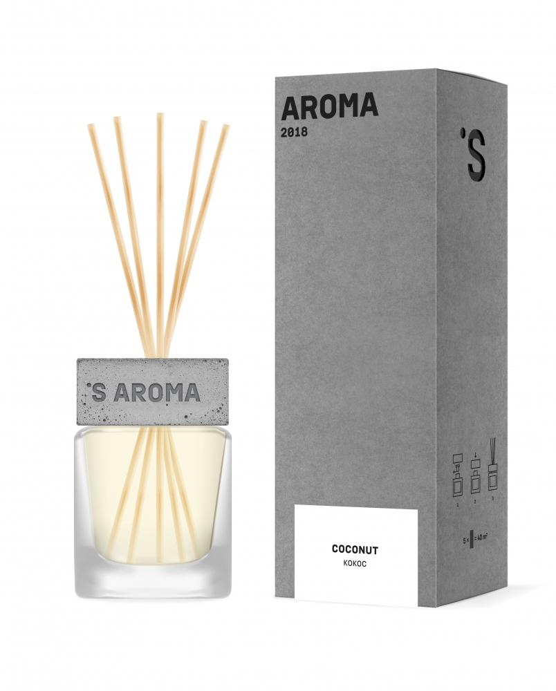 Аромадиффузор для дома и офиса с ароматом кокоса  Sister's Aroma  Reed Diffuser
