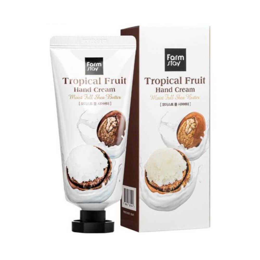 Крем для рук увлажняющий с маслом ши FarmStay Tropical Fruit Hand Cream Moist Full Shea Butter 50ml 0 - Фото 1