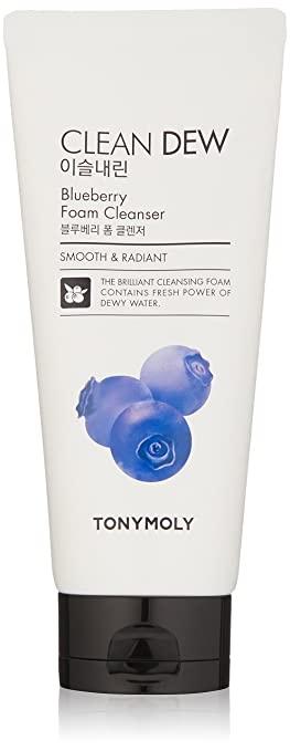 Пенка очищающая для умывания с экстрактом черники для лица Tony Moly Clean Dew Foam Cleanser Blueberry 180ml 0 - Фото 1