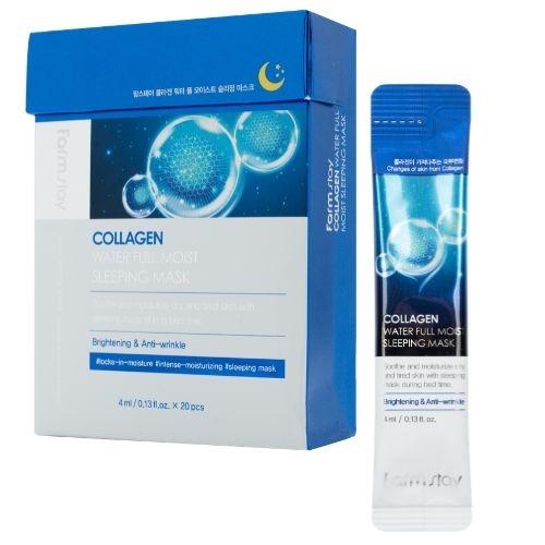 Маска ночная увлажняющая для лица с коллагеном FarmStay Collagen Water Full Moist Sleeping Mask 4ml 0 - Фото 1