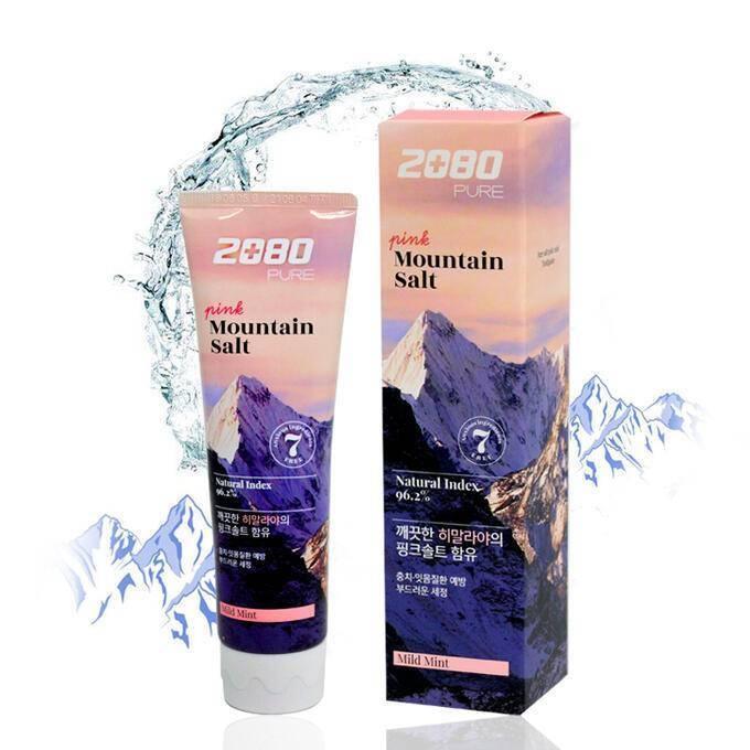 Зубная Паста Укрепляющая С Розовой Гималайской Солью Aekyung 2080 Pink Mountain Salt Toothpaste
