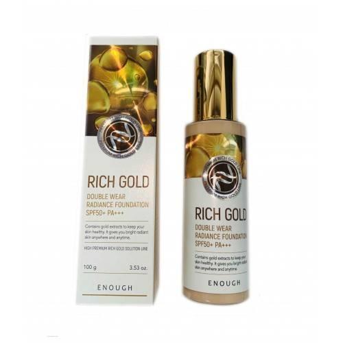 Тональная Основа Омолаживающая С  Золотом Enough Rich Gold Double Wear Radiance Foundation #21 SPF50+ PA+++ 100 g 0 - Фото 1