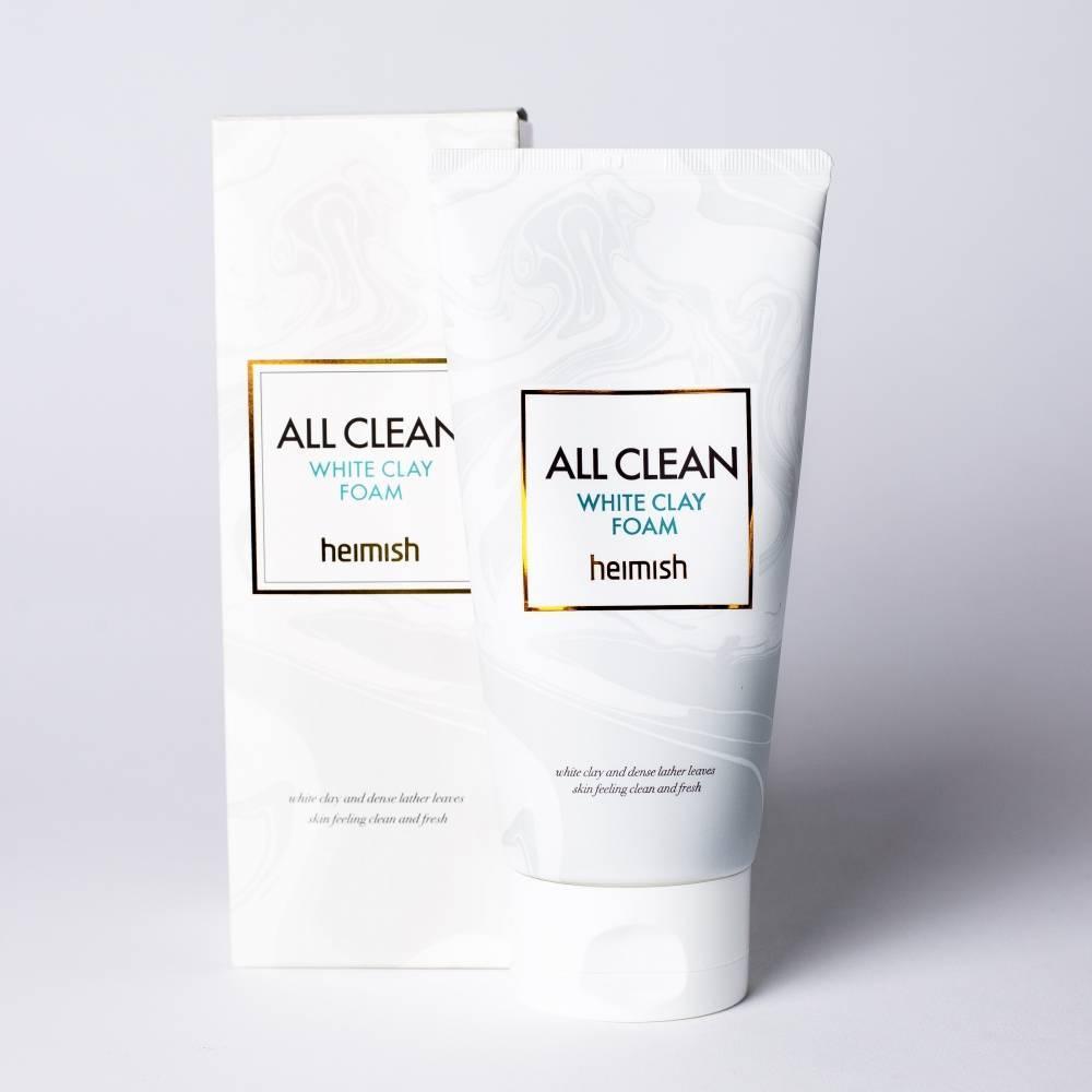 Очищающая Пенка Для Жирной И Проблемной Кожи С Кислотами И Белой Глиной HEIMISH All Clean White Clay Foam