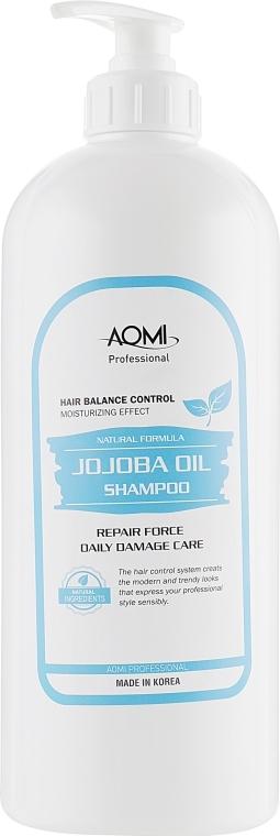 Укрепляющий шампунь для волос с маслом жожоба AOMI Jojoba Oil Shampoo 1500ml 0 - Фото 1