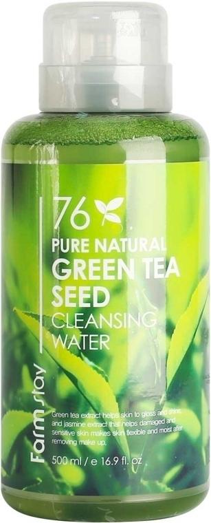 Очищающая вода с экстрактом зеленого чая Farmstay Pure Natural Green Tea Cleansing Water 500ml