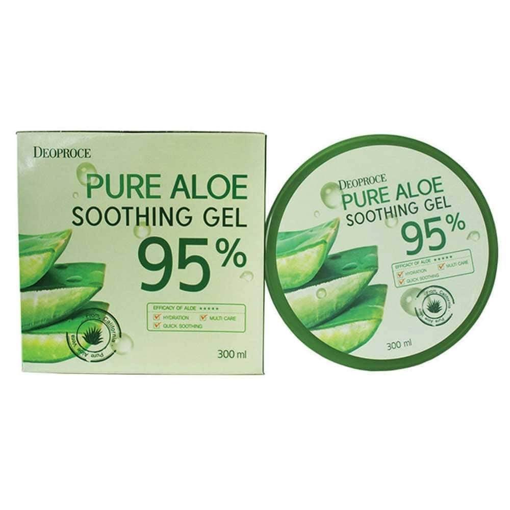 Гель Алое Универсальный Увлажняющий Deoproce Pure Aloe Soothing Gel 95% 300 ml 1 - Фото 2