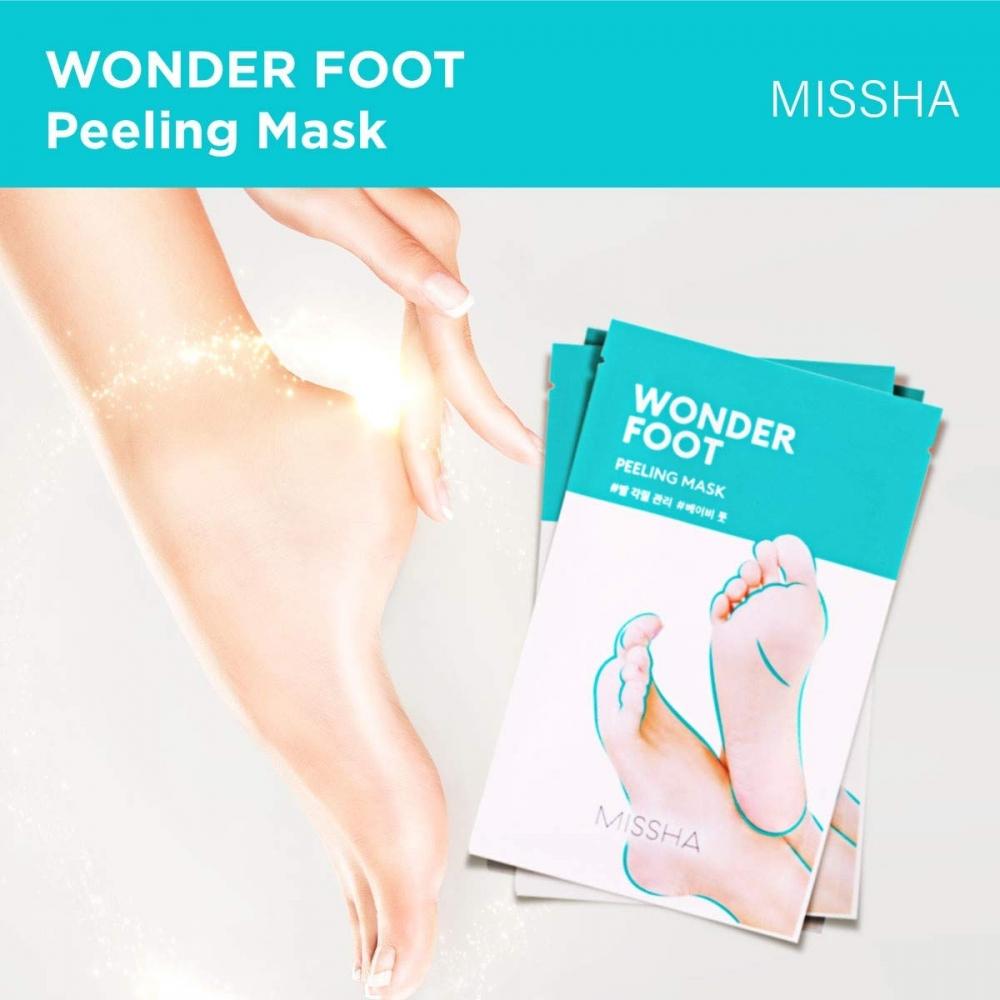 Маска-пилинг для ног с экстрактом лимона Missha Wonder Foot Peeling Mask 50ml 0 - Фото 1