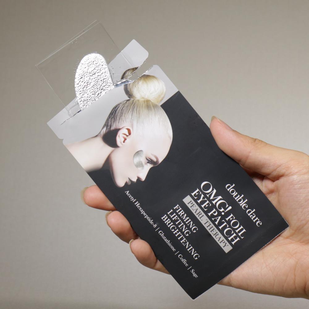 Патчи укрепляющие с кофеином  Double Dare OMG! Foil Eye Patch Pearl Treatment 0 - Фото 1