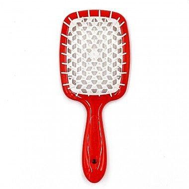 Расческа для волос красный с белым Janeke Superbrush 0 - Фото 1