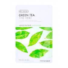 Маска Для Лица С Экстрактом Зеленого Чая The Face Shop Real Nature Mask Sheet Green Tea 0 - Фото 1