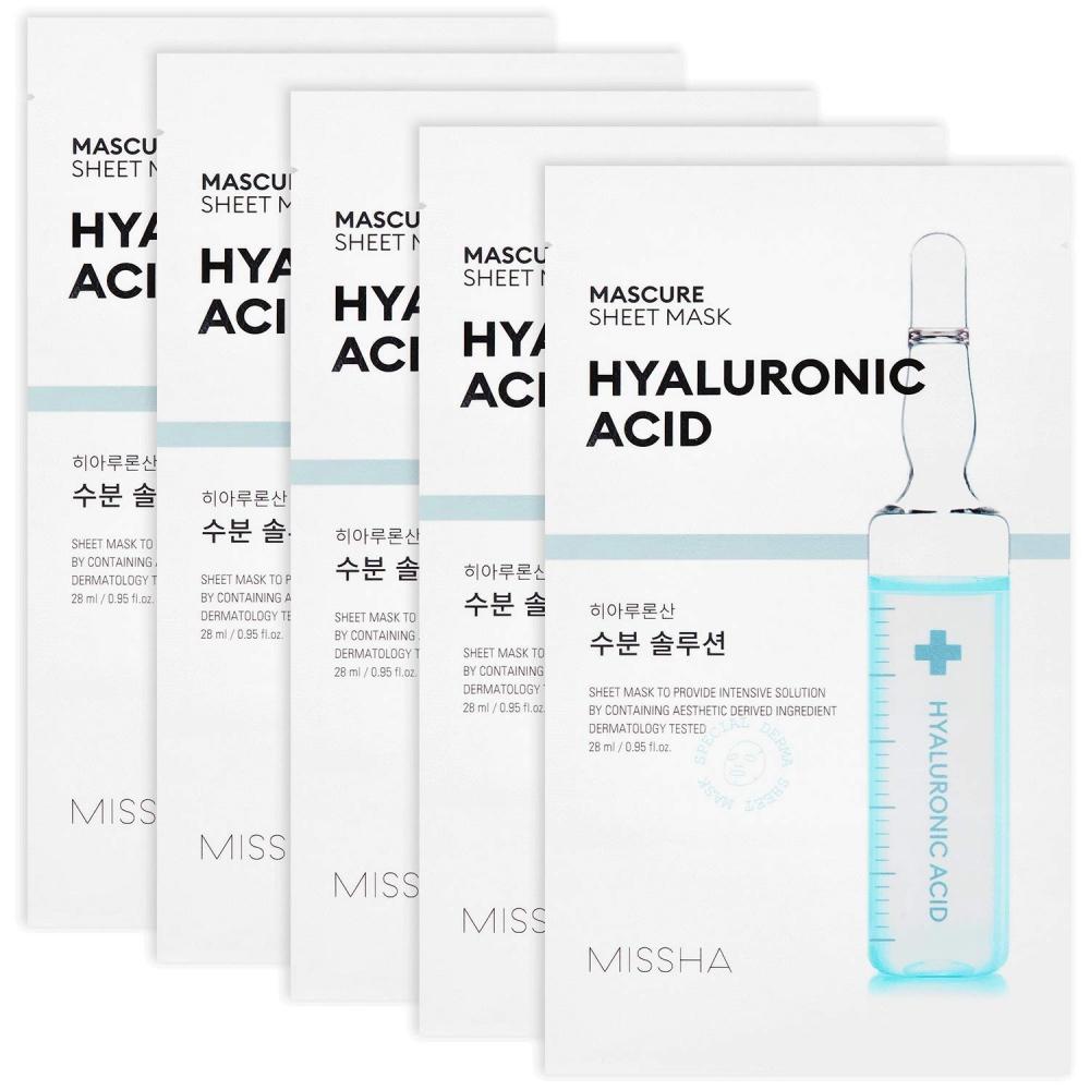 Маска Для Интенсивного и Глубоко Увлажнения С Гиалуроновой Кислотой MISSHA Mascure Hydra Solution Sheet Mask Hyaluronic Acid 27ml 0 - Фото 1
