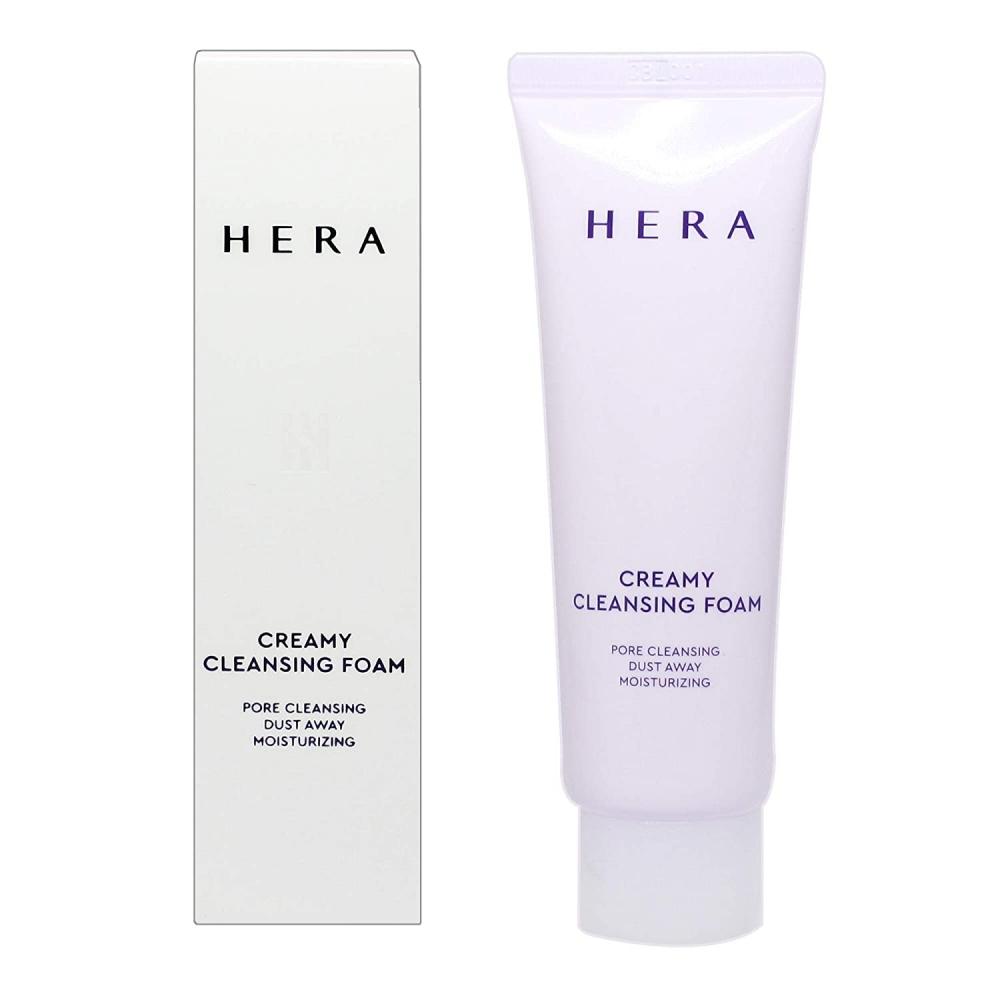 Люксовая пенка для умывания кремовая с экстрактом мяты Hera Creamy Cleansing Foam 50ml 0 - Фото 1