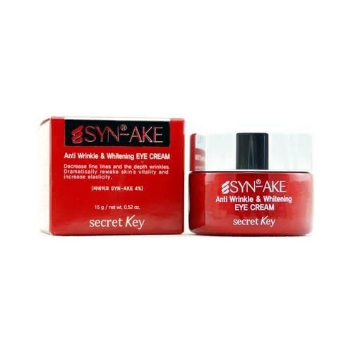 Крем антивозрастной отбеливающий для глаз Secret Key Syn-Ake Anti Wrinkle & Whitening Eye Cream 15ml 0 - Фото 1