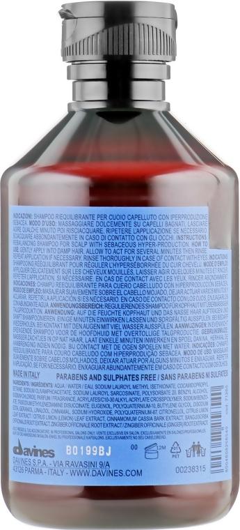 Шампунь для волос Ребалансирующий Davines Rebalancing Shampoo 100ml 2 - Фото 2