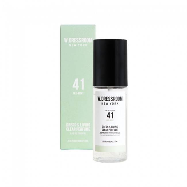 Парфюмированная вода для одежды с ароматом ментола W.Dressroom  Dress & Living Clear Perfume No.41 Jas Mint 70ml 2 - Фото 3