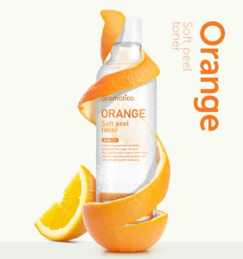 Пилинг - Тонер С Экстрактом Апельсина Aromatica Orange Soft Peel Toner  0 - Фото 1