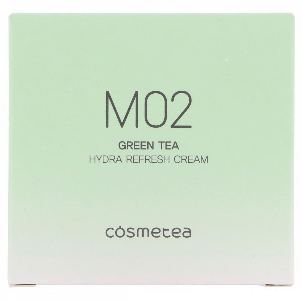 Крем для лица с экстрактом зеленого чая с освежающим эффектом Green Tea, Hydra Refresh Cream Cosmetea 10ml 2 - Фото 2