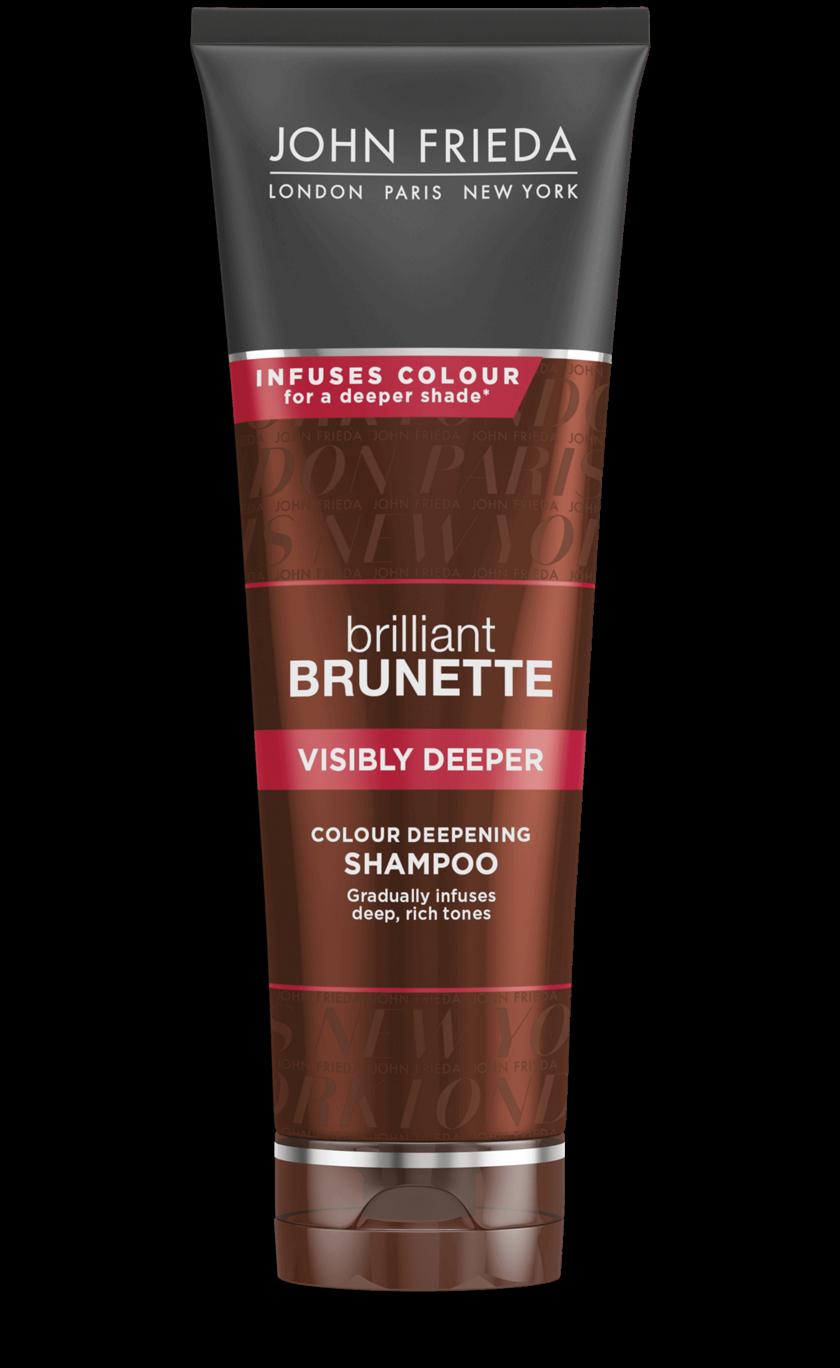 Шампунь для создания насыщенного цвета темных волос с экстрактом какао John Frieda Brilliant Brunette Visibly Deeper Shampoo 250ml 0 - Фото 1