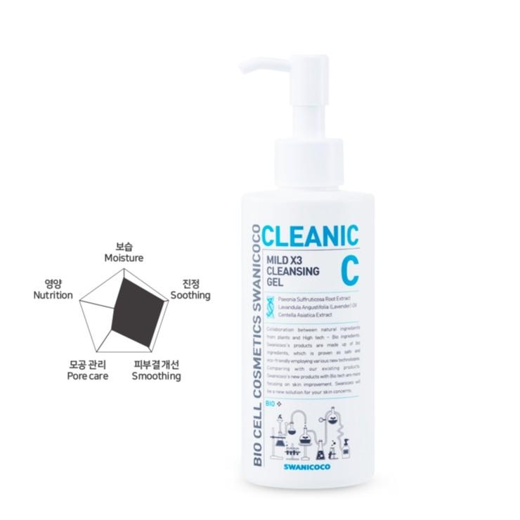 Гель Для Умывания Успокаивающий С Экстрактом Центеллы Swanicoco Mild X3 Cleansing Gel 200ml 0 - Фото 1