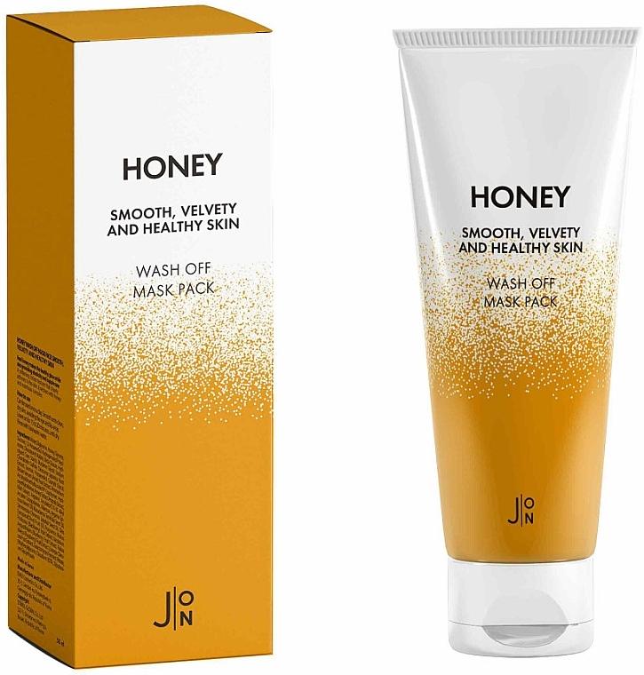 Маска смываемая с мёдом для лица J:ON Honey Smooth Velvety And Healthy Skin Wash Off Mask 50g 0 - Фото 1