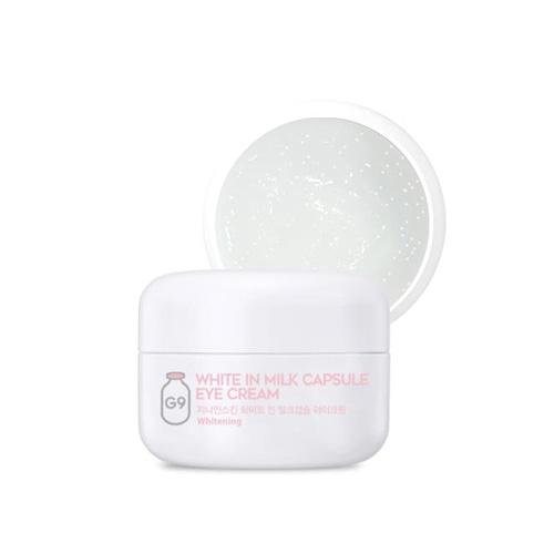 Осветляющий крем с молочными протеинами для кожи вокруг глаз G9 White In Milk Capsule Eye Cream 30ml 2 - Фото 2