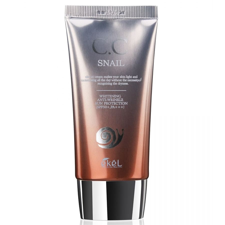 CC-крем регенерирующий для лица с экстрактом муцина улитки Ekel CC Cream Snail SPF50+ PA +++ 50ml