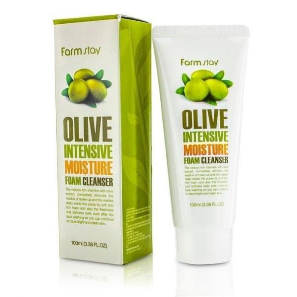 Пенка для умывания увлажняющая с экстрактом оливы Farmstay Olive Intensive Moisture Foam Cleanser 100ml