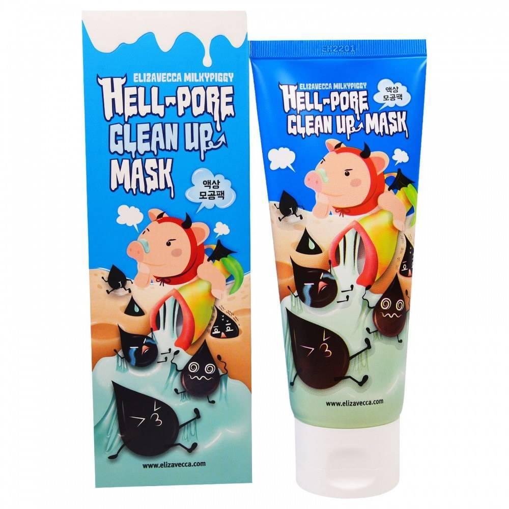 Маска-Пленка Для Очищения Пор, Черных Точек И Камедонов Elizavecca Hell Pore Clean Up Mask
