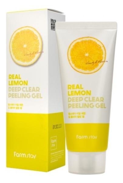 Пилинг-гель осветляющий с экстрактом лимона FarmStay Real Lemon Deep Clear Peeling Gel 100ml
