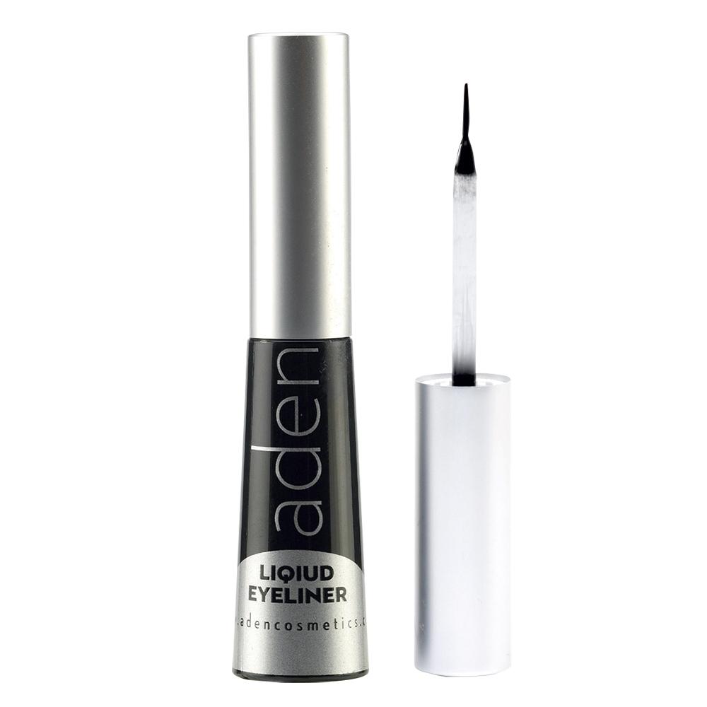 Подводка для глаз водостойкая черная Aden Cosmetics Liquid Eyeliner 5ml 0 - Фото 1