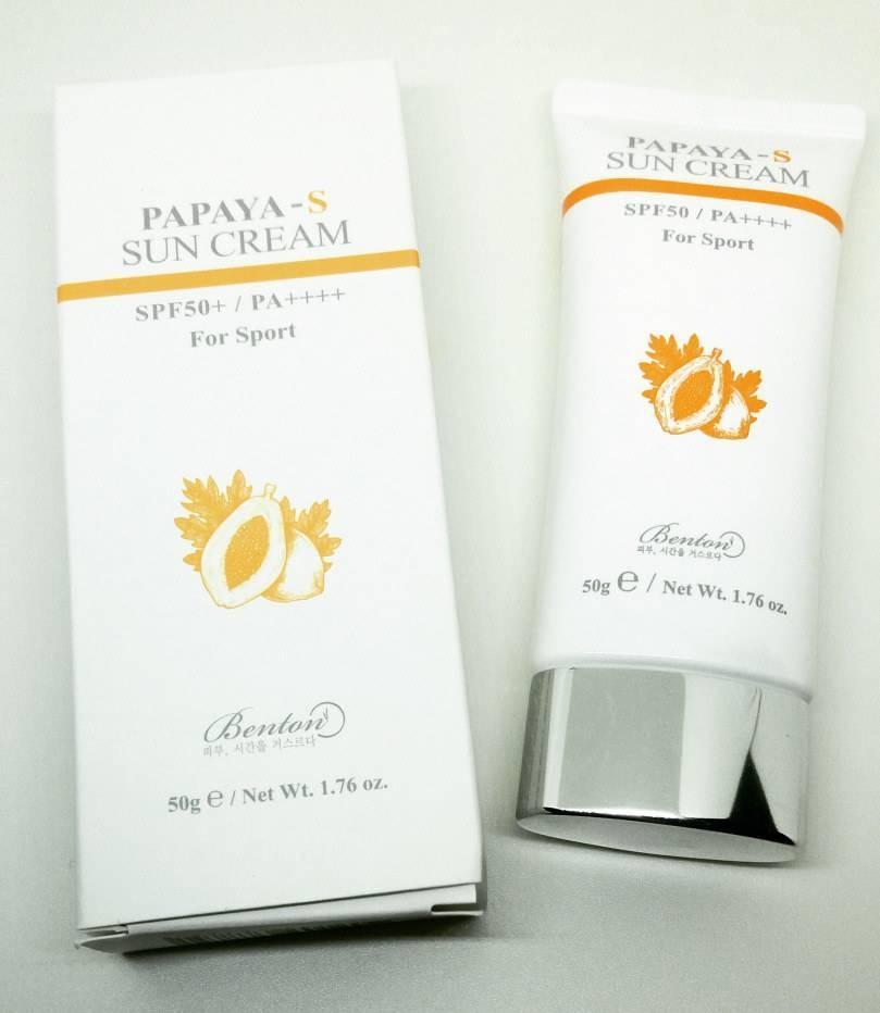 Натуральный Солнцезащитный Крем С Экстрактом Папайи Benton PaPaYa-S Sun Cream SPF50+/PA++++