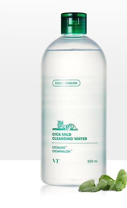 Вода для снятия макияжа успокаивающая  с экстрактом центеллы VT Cosmetics VT Cica Mild Cleansing Water 500ml 0 - Фото 1