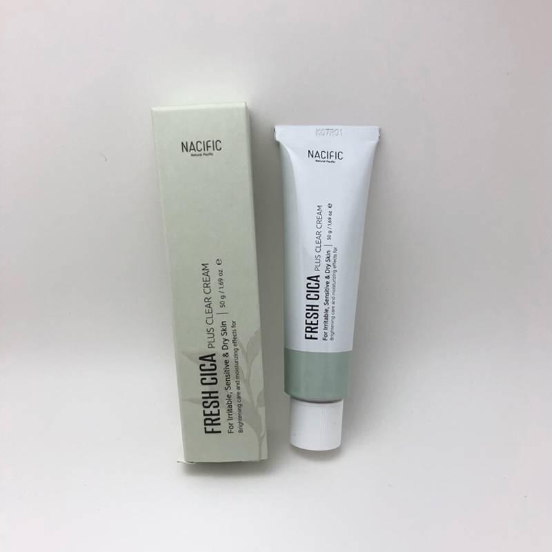 Крем успокаивающий с экстрактом центеллы для проблемной кожи Nacific Fresh Cica Plus Clear Cream 50ml