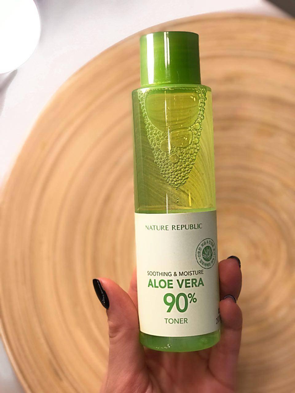 Тонер Увлажняющий С Экстрактом Алое Nature Republic Soothing & Moisture Aloe Vera 90% Toner