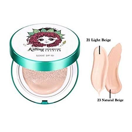 Кушон с экстрактом центеллы для проблемной кожи Some By Mi Killing Cover Moisture Cushion 2.0, SPF 50+ PA++++, #21 Light Beige 15 g