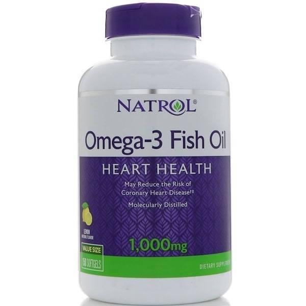 Рыбий Жир Омега-3 Со Вкусом Лимона Natrol Omega-3 Fish Oil 150 капсул 1 - Фото 2