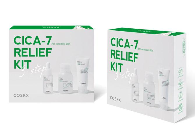 Набор: тонер, сыворотка и крем успокаивающие с экстрактом центеллы Cosrx CICA-7 Relief Kit (3 step) 55ml 2 - Фото 2
